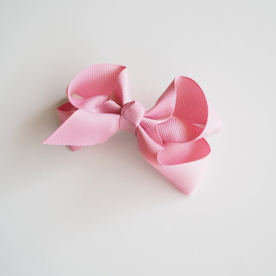 Snuggle Hunny Hair Bow Clips - Medium Dusty Pink