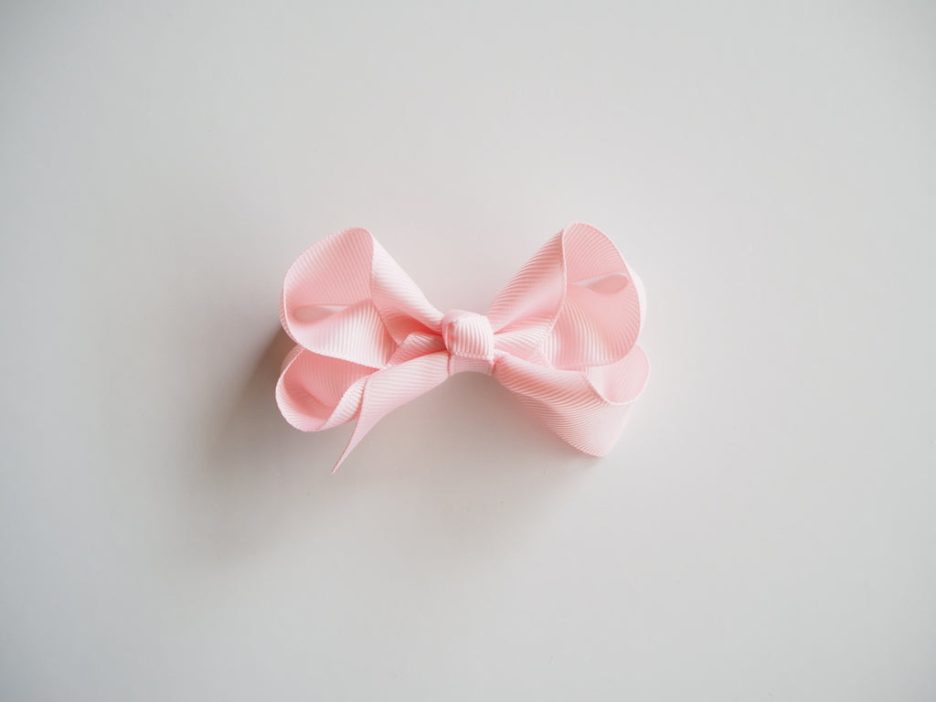 Snuggle Hunny Hair Bow Clips - Medium Light Pink