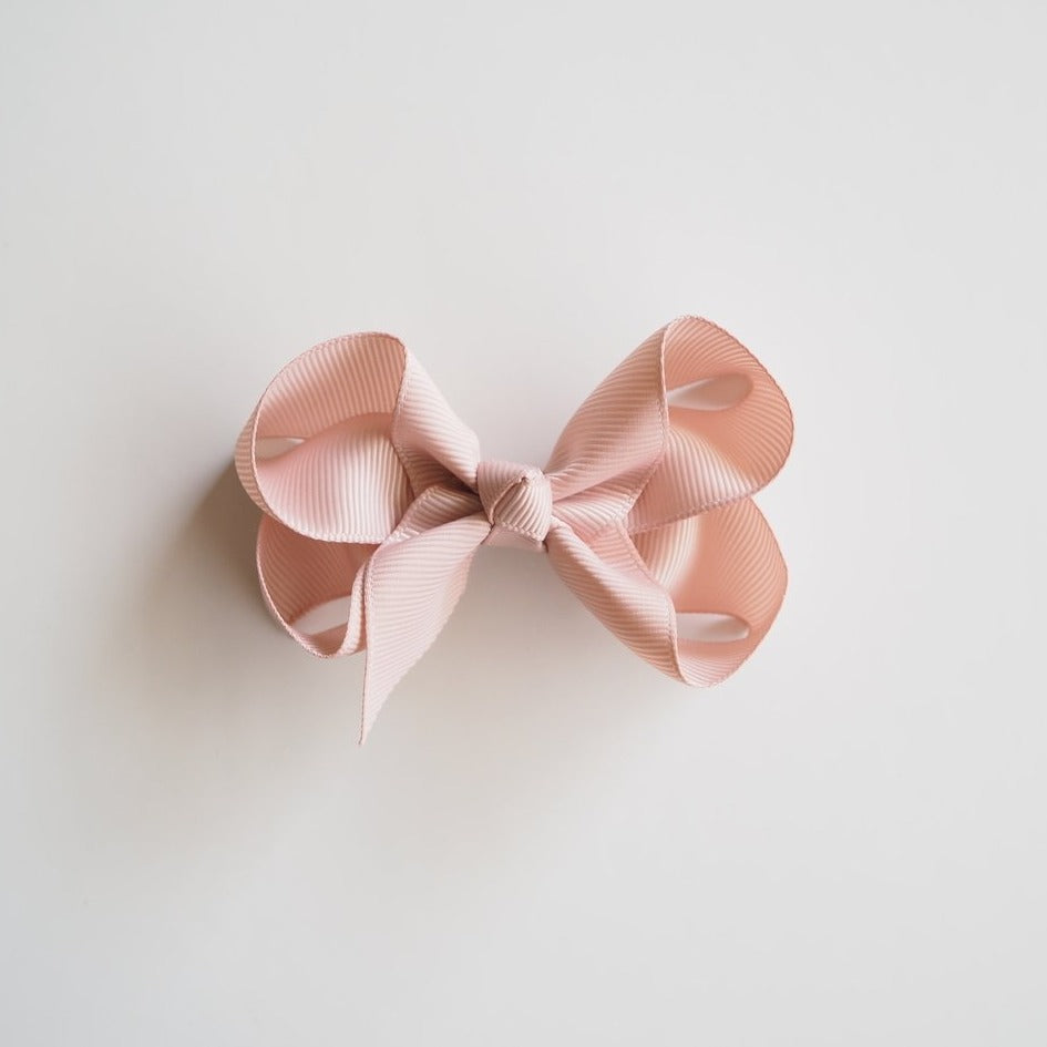Snuggle Hunny Hair Bow Clips - Medium Nude