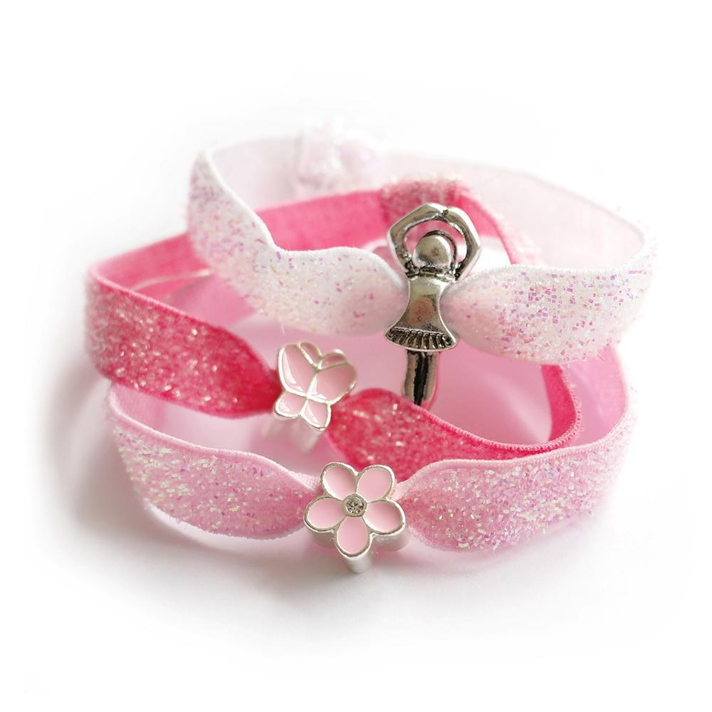Lauren Hinkley Kids Jewellery & Accessories  Glitter Hair Elastic Set Ballerina