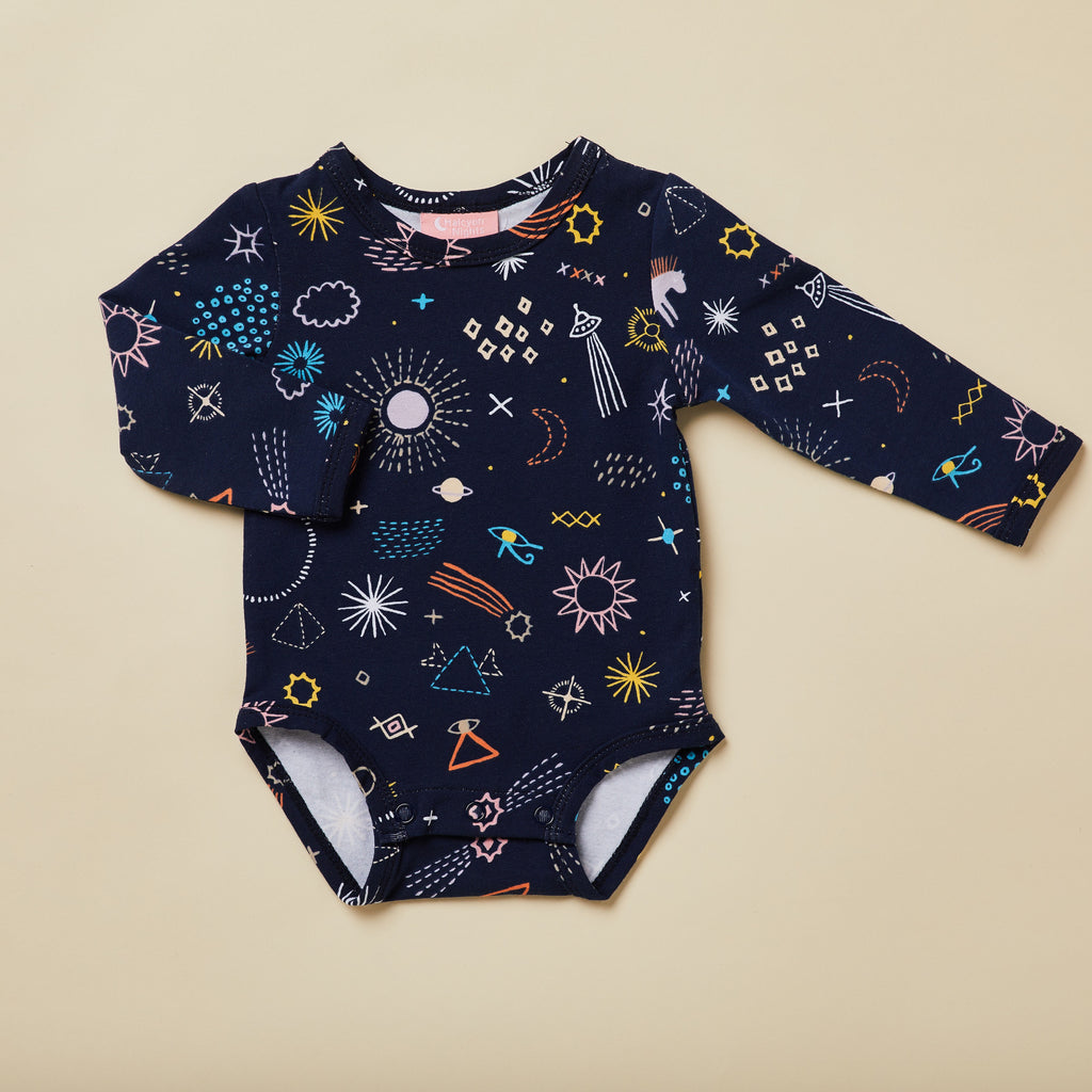 Halcyon Nights Milky Way Long Sleeve Bodysuit