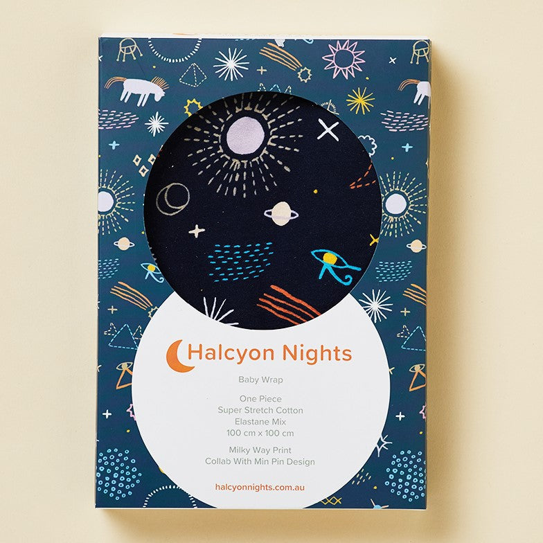 Halcyon Nights Milky Way Baby Swaddle Wrap