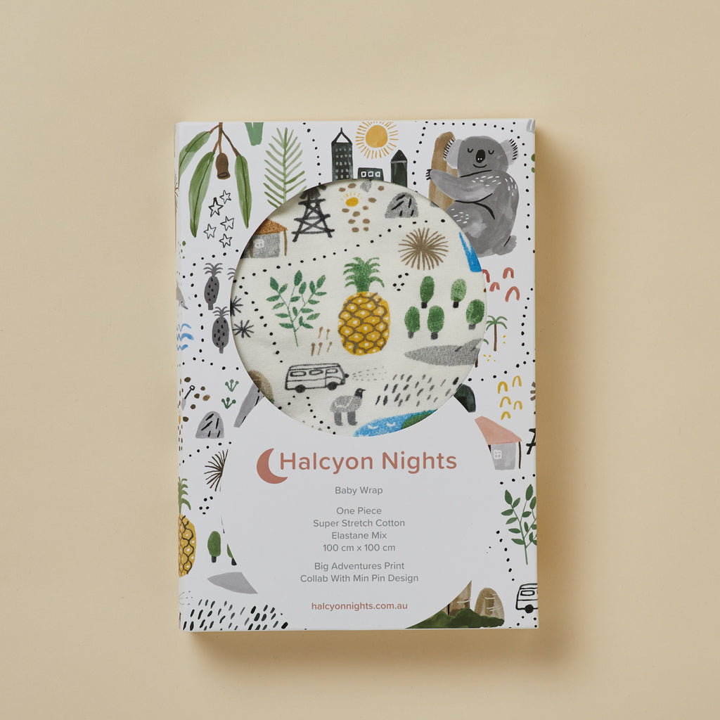 Halcyon Nights Big Adventures Baby Swaddle Wrap