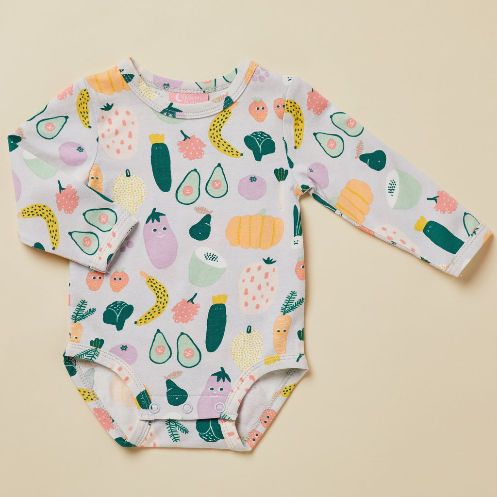 Halcyon Nights Winter Garden Long Sleeve Bodysuit