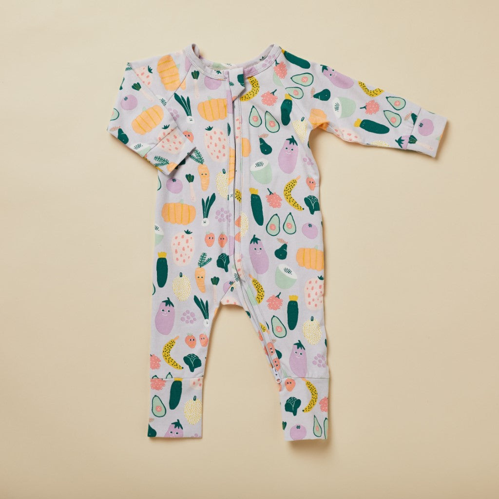 Halcyon Nights Winter Garden Long Sleeve Zip Onesie