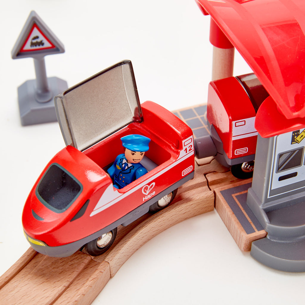 Hape Busy City Railway Set - 51 Pieces