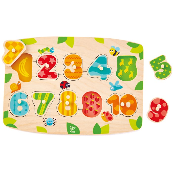 Hape Number Peg Puzzle 10 Pieces