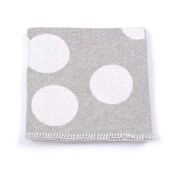 Indus Design Spot Baby Blanket  Grey