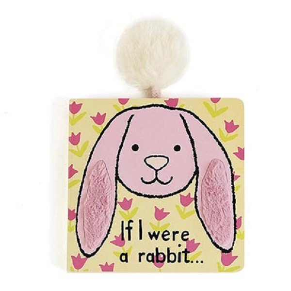 Jellycat If I Were A Rabbit Book Featuring Bashful Tulip Bunny