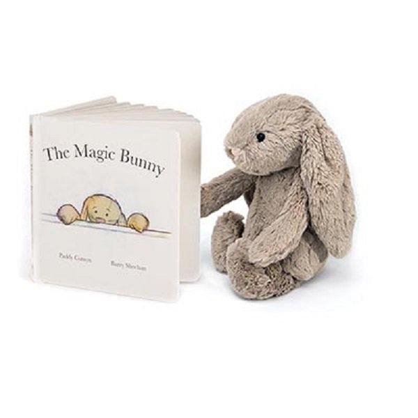 Jellycat The Magic Bunny Book featuring Bashful Beige Bunny