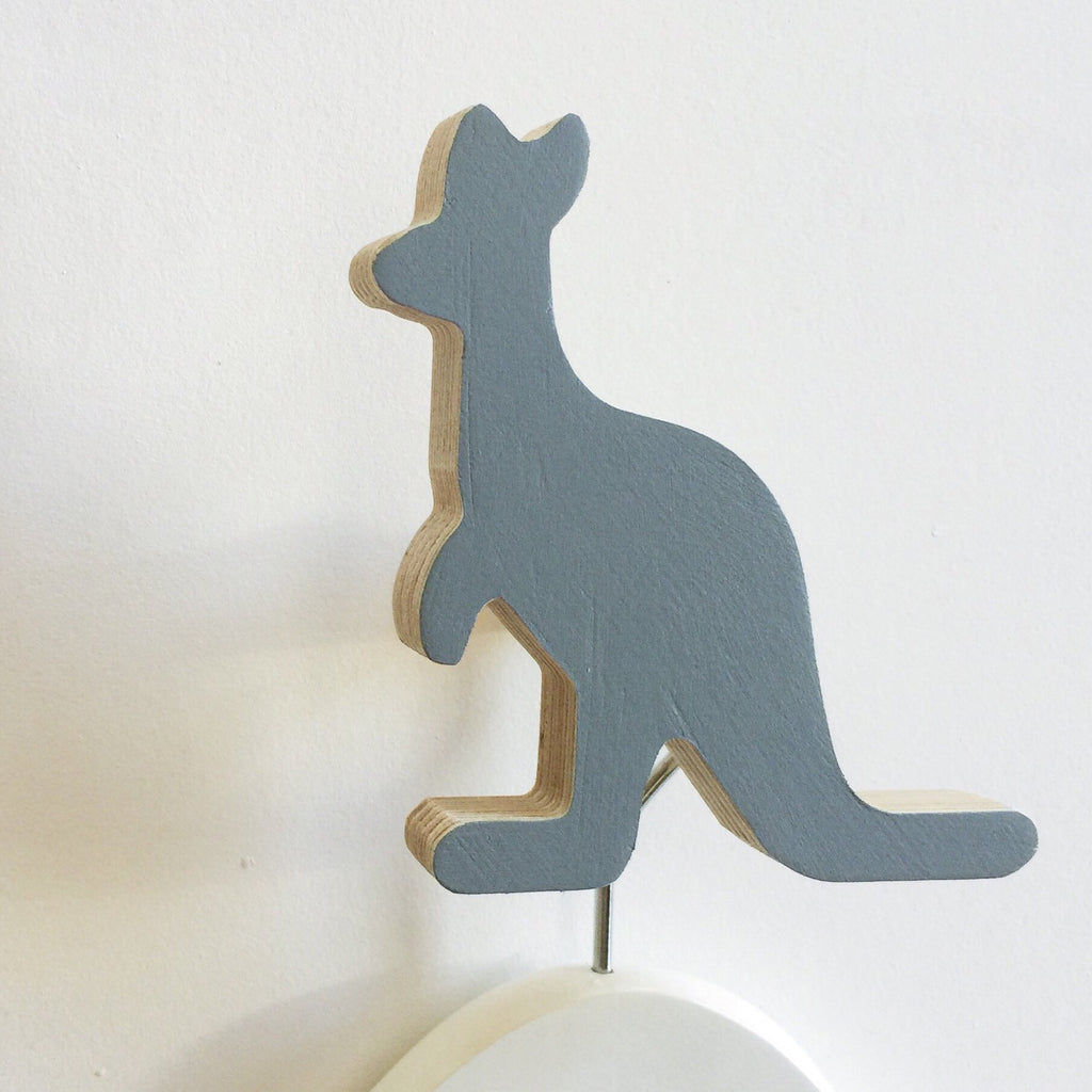 Knobbly Kangaroo Wall Hook - Grey