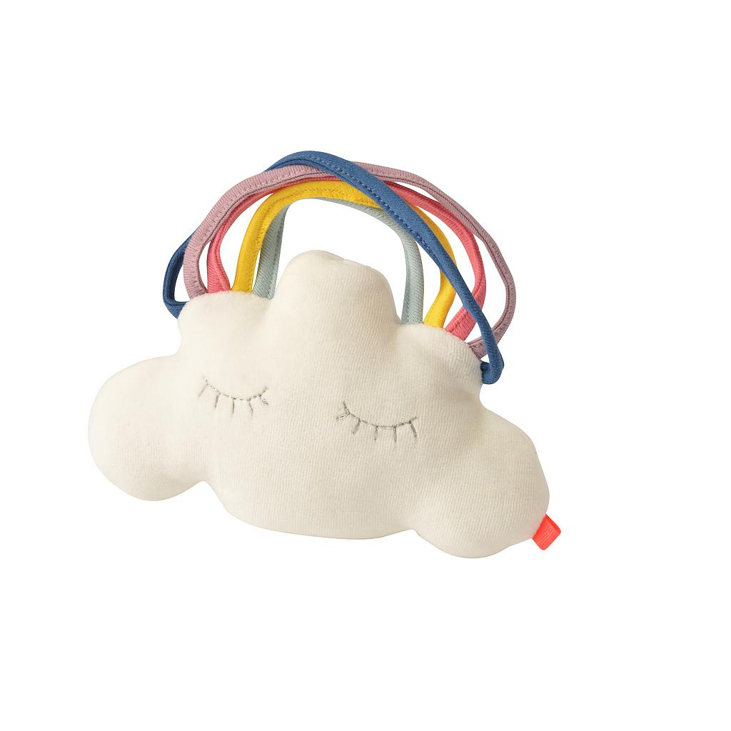 kikadu organic baby rattle - cloud