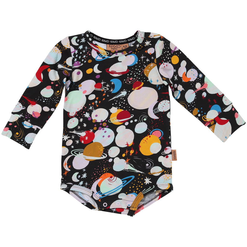 Kip and Co Organic Baby Long-sleeve Bodysuit - Planet Kip