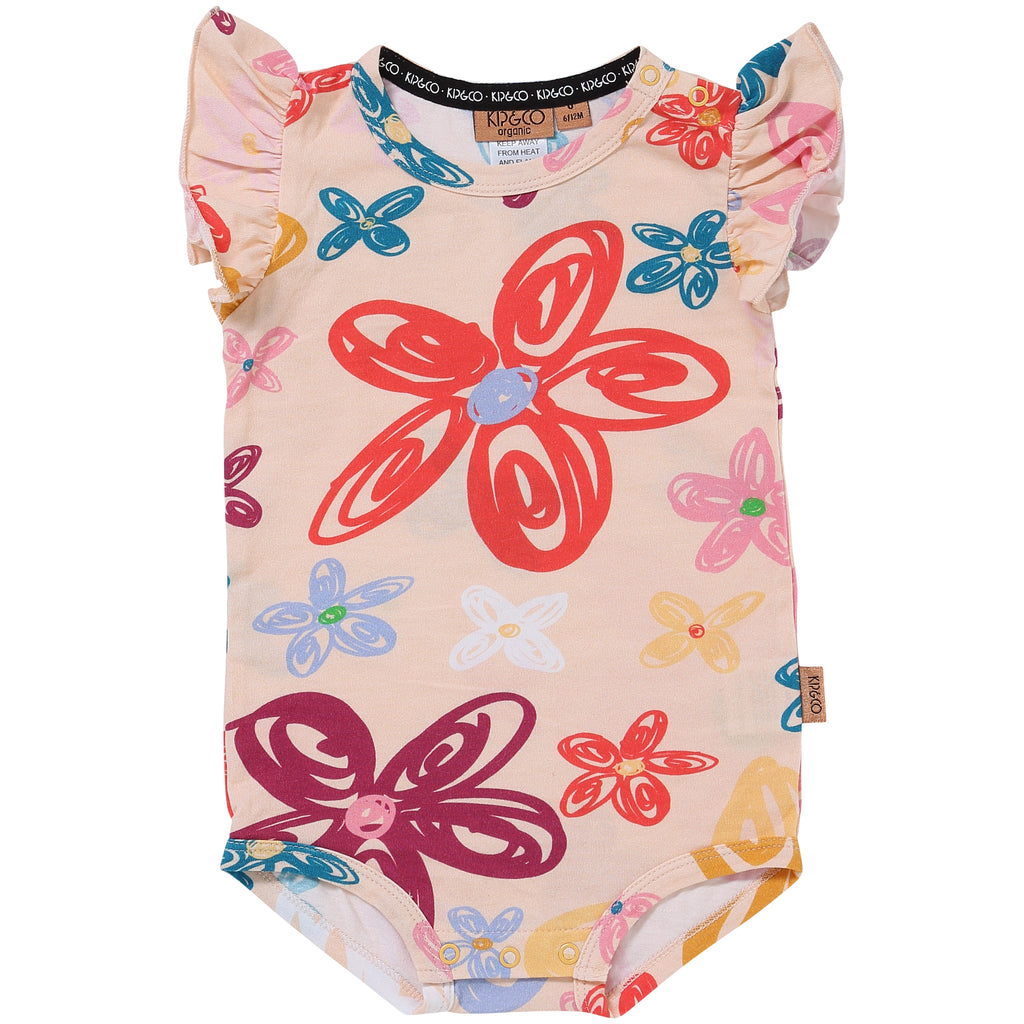Kip and Co Organic Baby Short-sleeve Bodysuit - Pansy