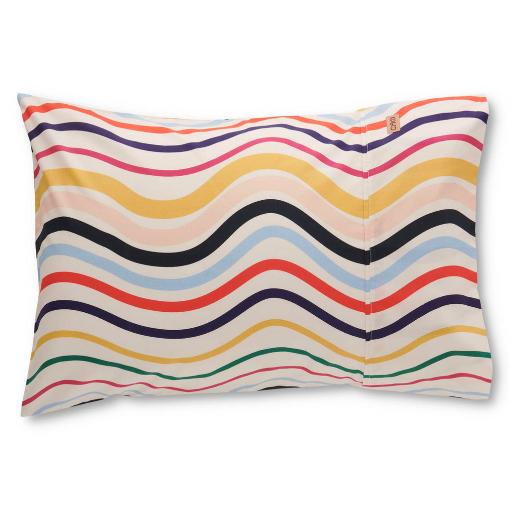 Kip and Co Kids Bedding - Ripple Rainbow Pillowcase