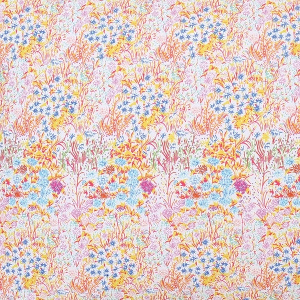 Kip & Co Little Coloured Flowers Fitted Cot Sheet