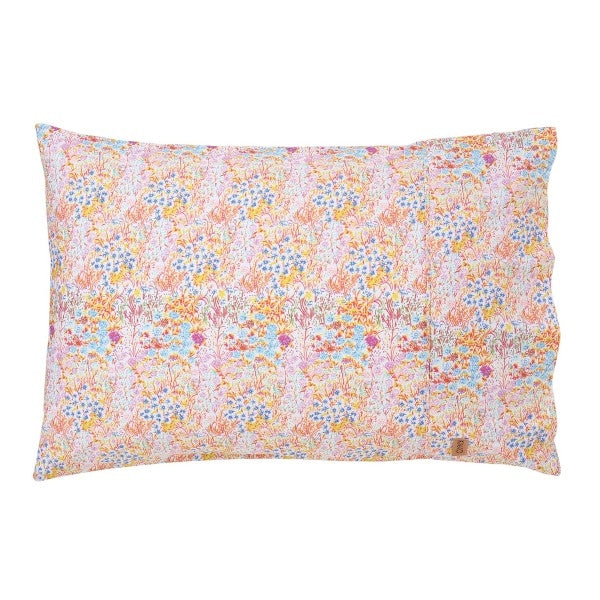 Kip & Co Little Coloured Flowers Pillowcase