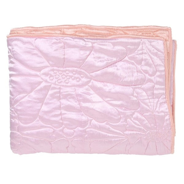 Kip & Co Magical Kingdom Pink Satin Quilted Bedspread