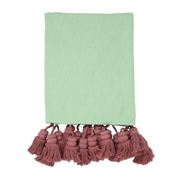 Kip & Co Rainforest Tassel Throw