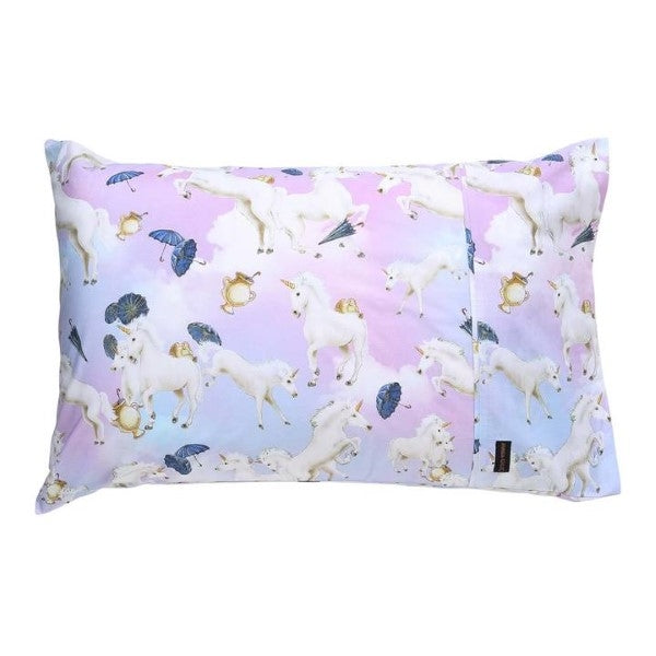 Animalia X Kip & Co Unicorns & Umbrellas Pillowcase