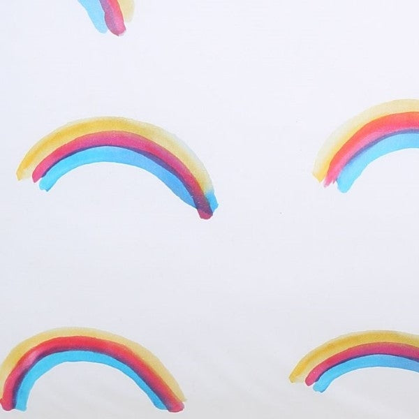 Kip&Co Rainbow Love Fitted Cot Sheet