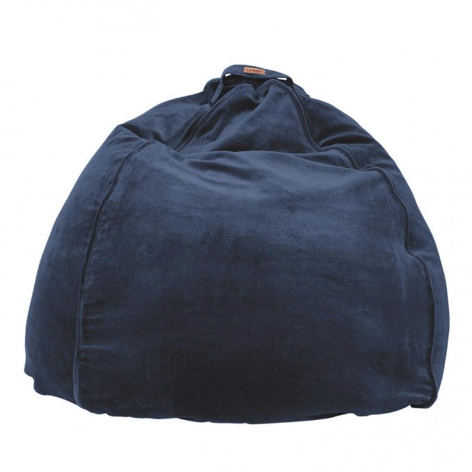 Indoor Velvet Kip & Co Beanbag - Petrol Blue