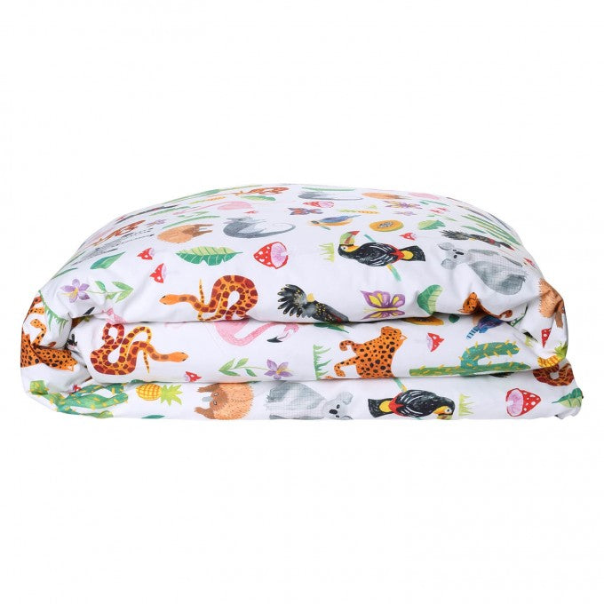 Kip & Co Jungle Animal Cotton Quilt Cover - Single