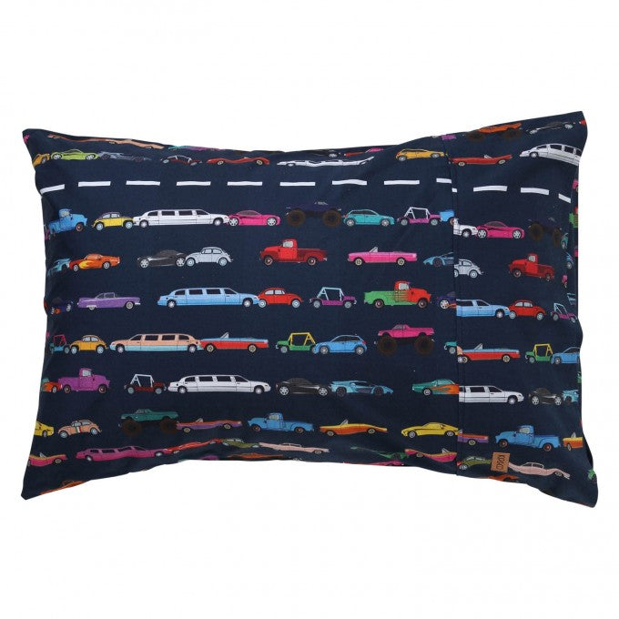 Kip & Co Speed Racer Car Cotton Pillowcase