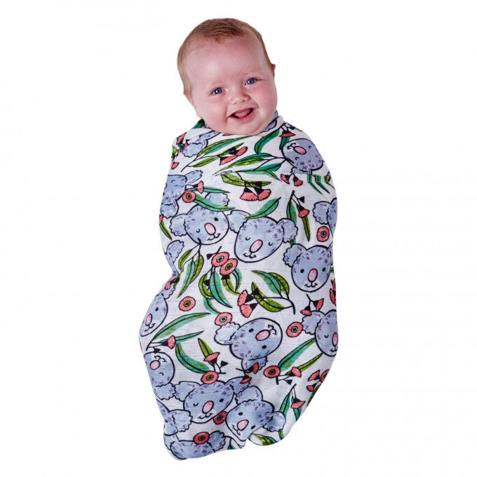 Kip & Co Koala in the Bush Bamboo Swaddle Wrap