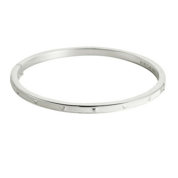 Kirstin Ash White Heart Enamel Bangle
