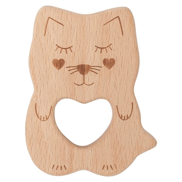 Kitty Kippin Natural Beech Wood Teething Toy