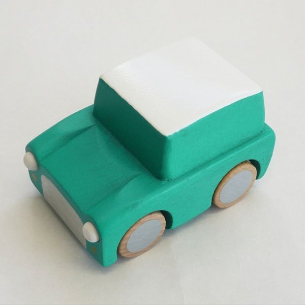Kiko+ Kuruma Wooden Car Green