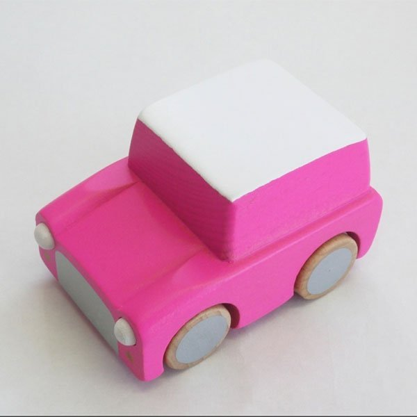 Kiko+ Kuruma Wooden Car Pink