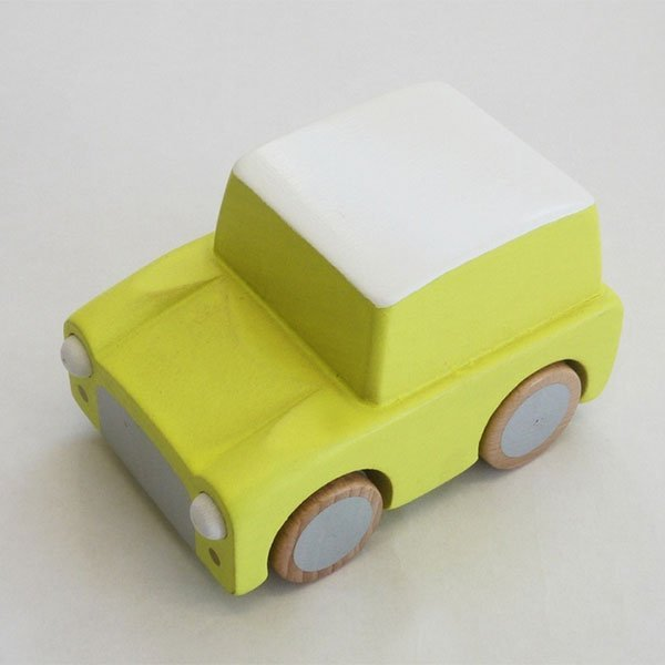 Kiko+ Kuruma Wooden Car Yellow