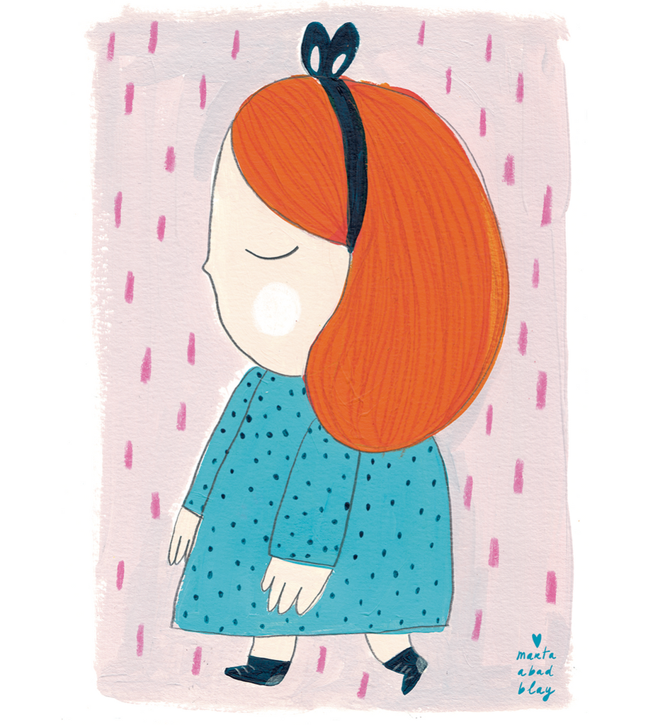 Marta Abad Blay Kids Art Prints - Girl 2 Laura