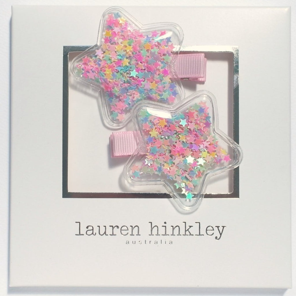 Lauren Hinkley Glitter Star Hair Clips