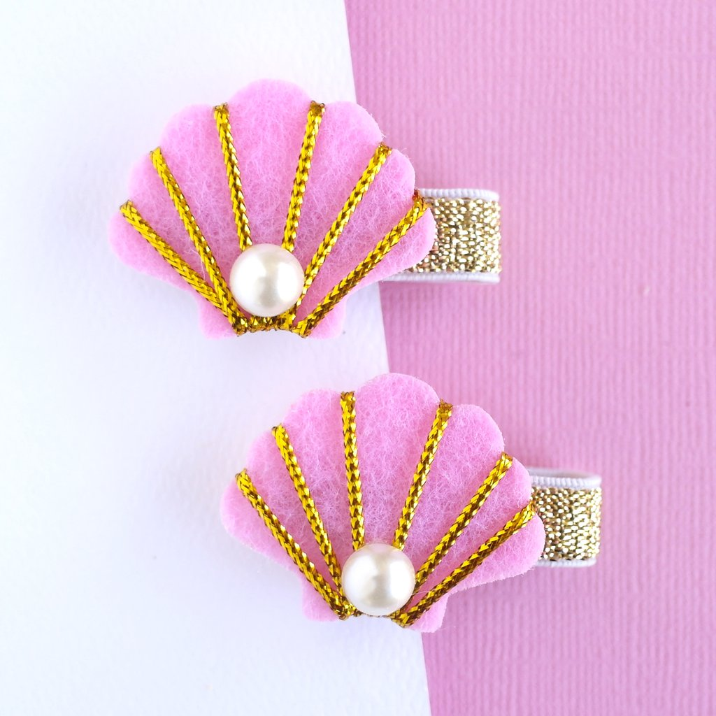 Lauren Hinkley Shell Hair Clip - Pink