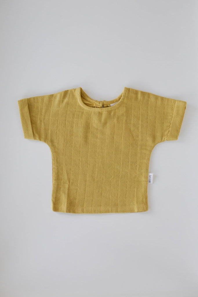 Le Edit Baby Linen Sunday T-Shirt - Mustard Yellow