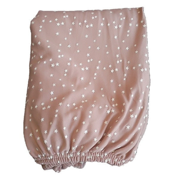Le Edit Star Fitted Cot Sheet Dusty Pink