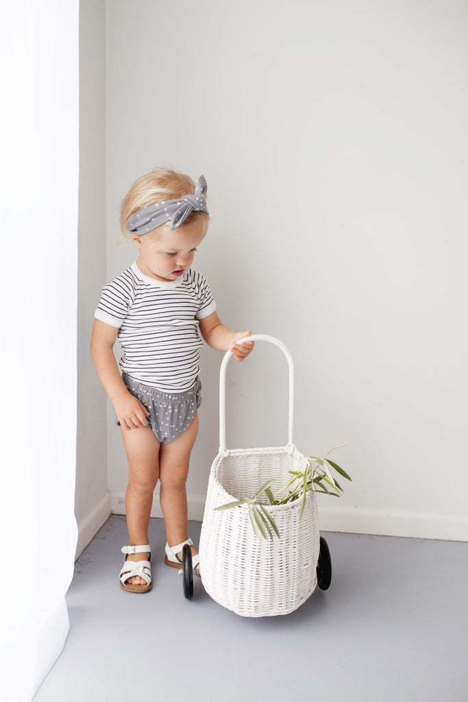 Le Edit Baby Clothes  Stripe Short Sleeve Onesie