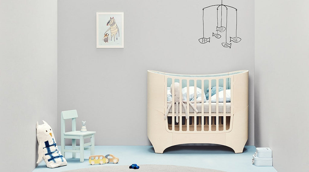 Leander Baby Cot and Mattress - Whitewash