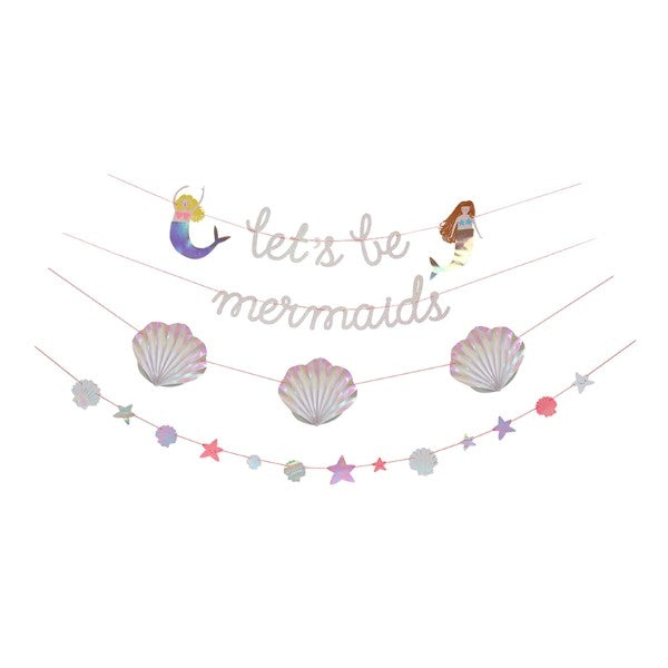 Lets Be Mermaids Garland Banner
