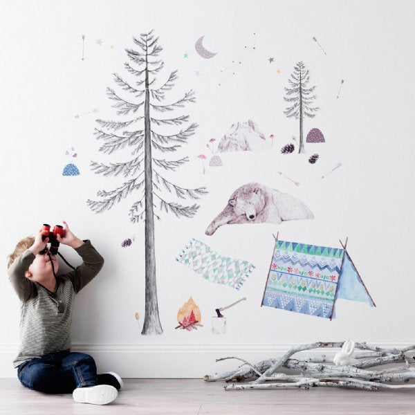 Love Mae In To The Woods Fabric Wall Sticker