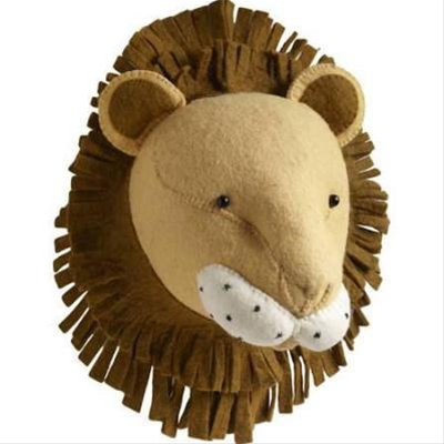 Fiona Walker Felt Heads Lion