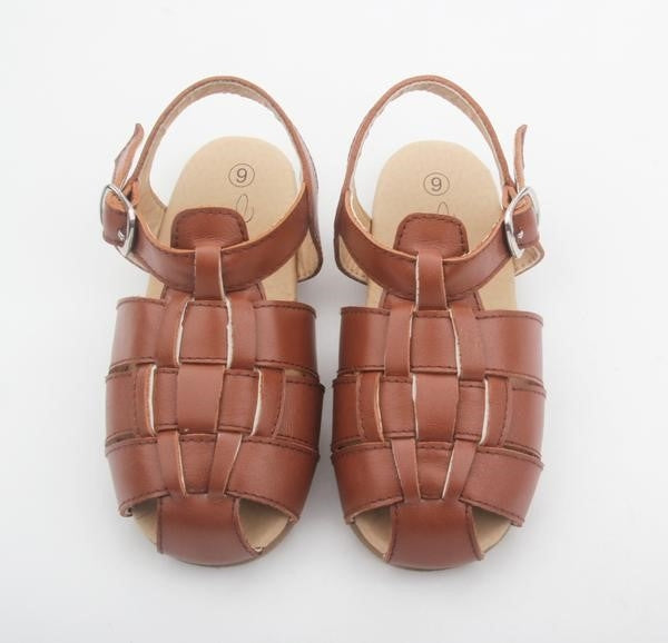 Anchor & Fox Lisbon Woven Sandal Chestnut