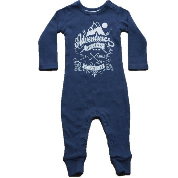 Little Bubba Bold & Brave Footless Onesie Navy Blue