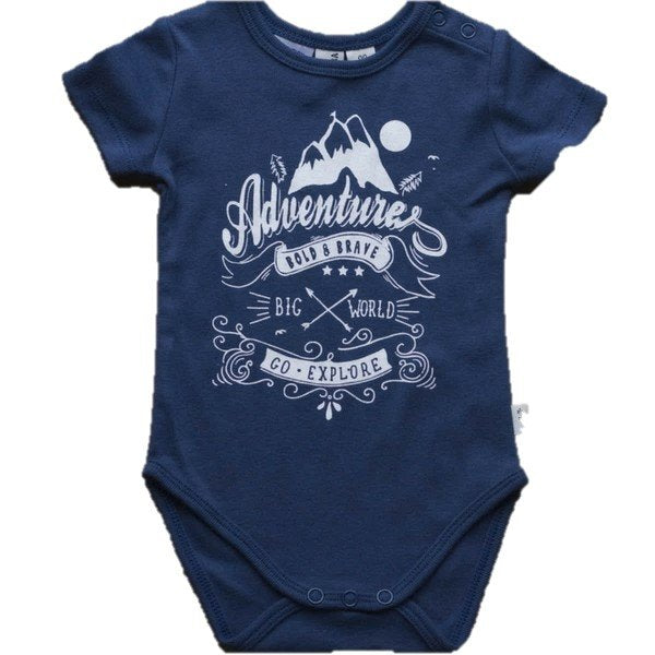 Little Bubba Bold & Brave Short Sleeve Bodysuit Navy Blue