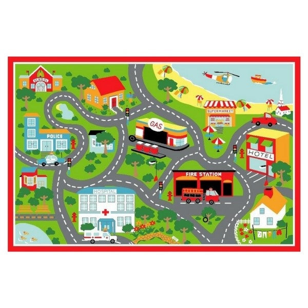 Beach Play Rug Red
