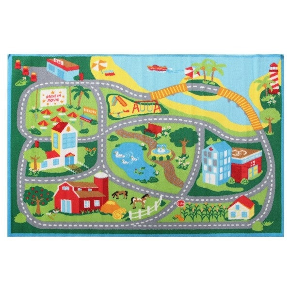 Beach Play Rug Blue