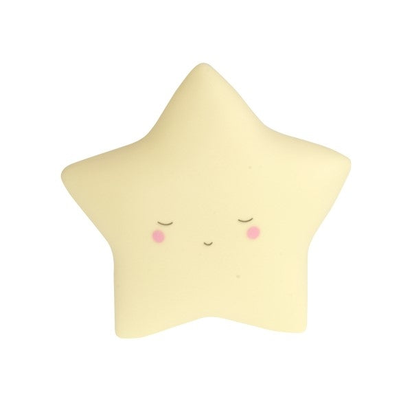 Little Dream Kids Night Light Star  Yellow